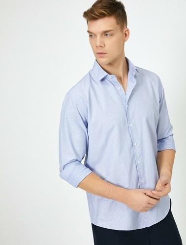 Koton Klasik Yaka Gömlek Mavi